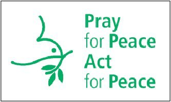 (3'x5' PRAY for PEACE, ACT for PEACE FLAG, Dove Christian Jesus)