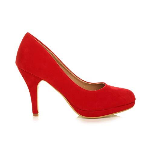 Elegantes Zapatos Mediano Wildleder Fiestas Tacón Para Muy Rot De Perfectos r1Urx7q0