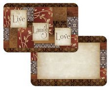 CounterArt 4 Spice of Life Reversible Placemats
