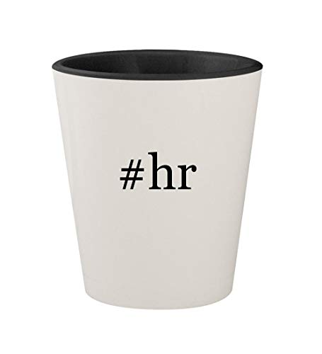 Price comparison product image #hr - Ceramic Hashtag White Outer & Black Inner 1.5oz Shot Glass