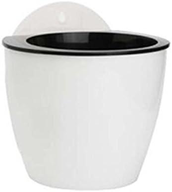 Image ofKicode Creative Suction Cup Agua Colgante Plantas de macetas Plantas de Interior Wall Hang Lazy maceteros Plantador (L)