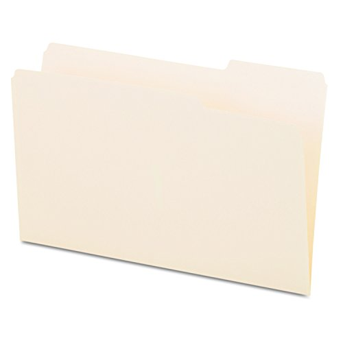Universal 15123 File Folders, 1/3 Cut, One-Ply Top Tab, Third Position, Legal, Manila (Box of (Position Legal 100 Box)