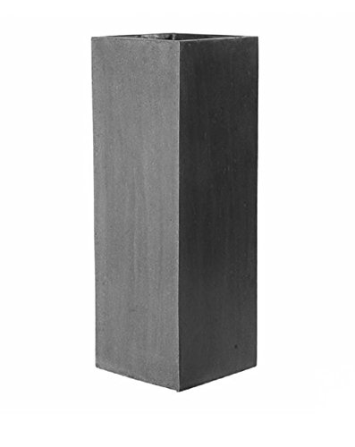 Elegant Tall Planter Sleek Grey Square Flower Pot Stand 39