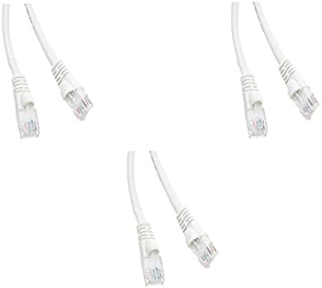 Snagless//Molded Boot 6 Feet White 2 Pack Cat5e Ethernet Patch Cable CNE482489