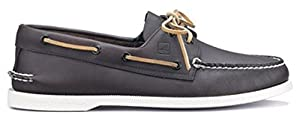 Men's Sperry Topsider, Authentic Original Boat Shoe BROWN W/WHITE SOLE 9 WW