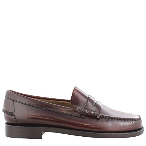 Sebago Mens Classic Dan Brown/Burgundy 9 M (Shoes Classic Sebago)