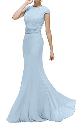 Rundkragen Ballkleider Brautmutterkleid Meerjungfrau Himmelblau Abendkleider Damen Lang Promkleid Ivydressing wIUBq4xU
