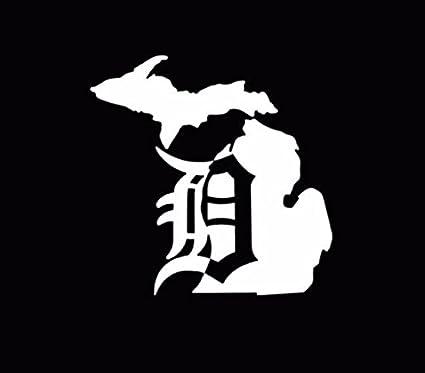 amazon com michigan mitten old english d detroit tigers vinyl decal