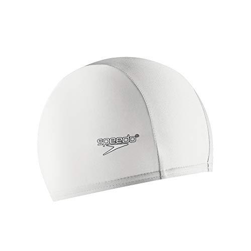 Swim White Cap Cap - Speedo Lycra Solid Swim Cap, White, One Size