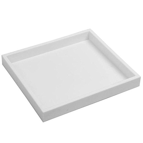 White Tray Inserts Displays - White Plastic Half Size Jewelry Organizing Display Tray ~ 1