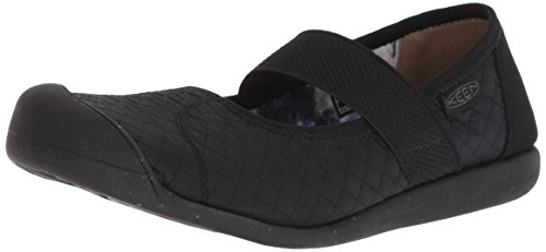 (KEEN Women's Sienna MJ Quilted Mary Jane Flat, Black/Steel Grey, 7.5 M US)
