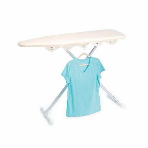 Standard Board Ironing Homz - Homz Ironing Board Replacement Cover & Pad with Built in Hanger Slots, Cover Fitsup To 15