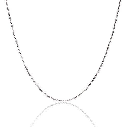 925 Sterling Silver 1.3MM Wheat Chain Lobster Claw Clasp 24'' by Designer Sterling Silver (Image #7)