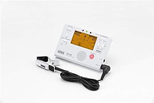 Korg TM60-BK - Sintonizador/metrónomo con micrófono de contacto