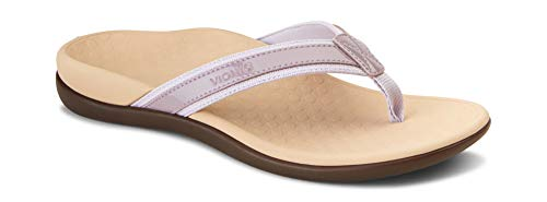 Vionic Women's Tide II Toe Post Sandal - Ladies Flip Flop with Concealed Orthotic Arch Support Mauve 7 Medium US - Orthotics Neutral Heel