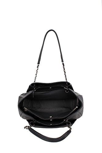 Sac à bandoulière Lancaster Femme Cuir Noir et Argent 57338NOIRE Noir 12x30x35 cm