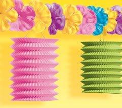 Hawaiian-Summer-Luau-Beach-Party-Tiki-Lounge-Flowers-and-Lantern-Garland-Decoration-Paper-10-Feet