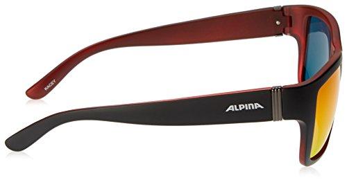 Alpina A8523 Lunettes de soleil Noir Mat/Rouge aU5iL1S5I