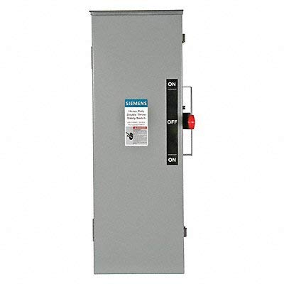 Siemens DTF322R 60 Amp 3 Pole 240V 3 Wire Fused Double Throw Type 3R Switch
