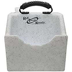"Ruff Tough Kennels Dog Water Dish, Bowl, Easy to use Portable Water Station, Whitestone color, Holds 1 Gallon of water, 10.5"" long, 10""wide, 11.5""Tall"