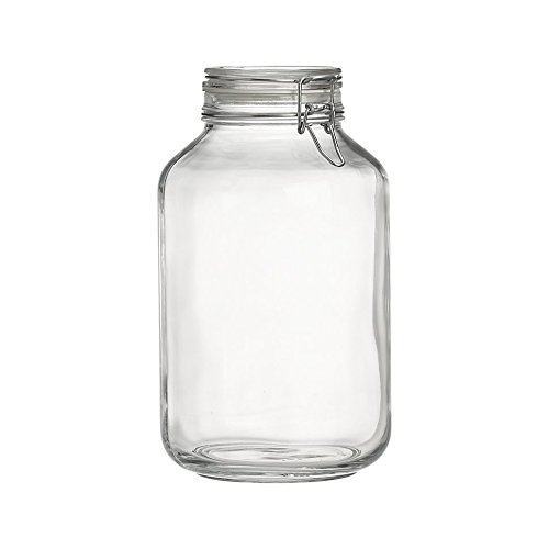 Clear Glass Canning Jar with Clamp Lid, 5 Liter ()