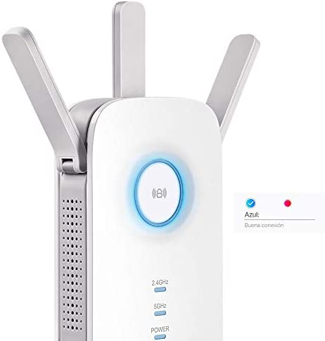 New TP-Link Repetidor WiFi Inalámbrico, Velocidad Banda Dual AC1750, Extensor de Red y Punto de Acceso, Compatible con Módem Fibra y ADSL, Indicador ...