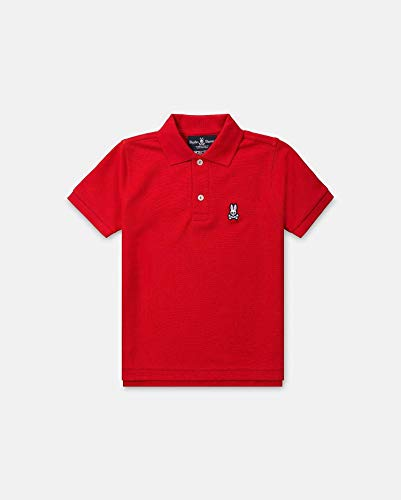 Psycho Bunny Kids Baby Boy's Classic Polo (Toddler/Little Kids/Big Kids) Brilliant Red 10/12 by Psycho Bunny Kids (Image #2)