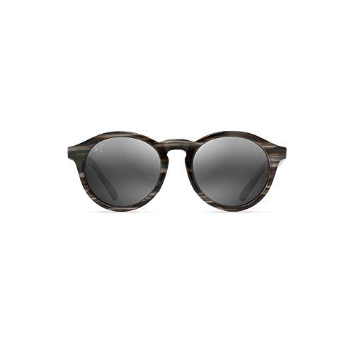 Maui Jim Pineapple 784-14D   Polarized Slate Grey and Brown Stripe Classic Frame Sunglasses, Patented PolarizedPlus2 Lens Technology