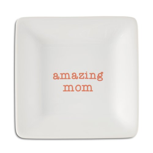 - Pavilion Gift Company 14022 Amazing Mom Ceramic Keepsake Dish, 4-1/2-Inch