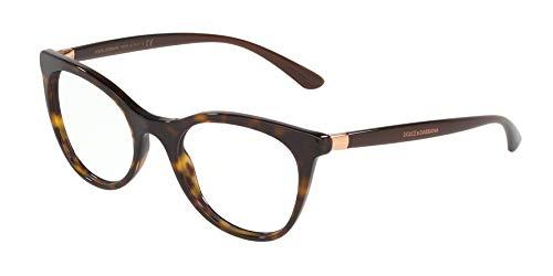 Dolce Gabbana DG3312 Havana/Clear Lens Eyeglasses