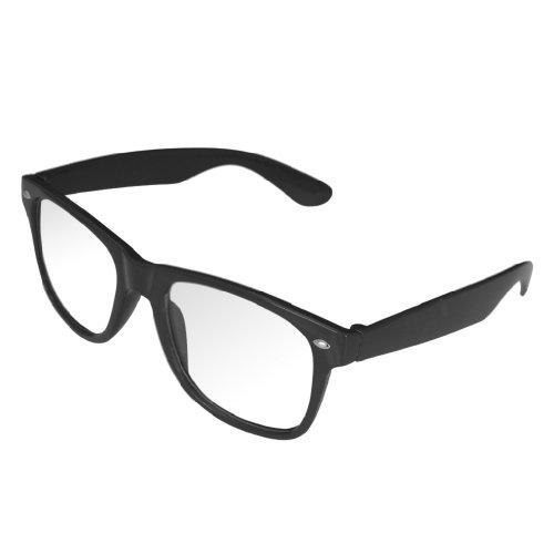 con de negro diseño TM unisex ahumados 4sold ochentero cristales sol Gafas clear black Negro qZFnEw0I