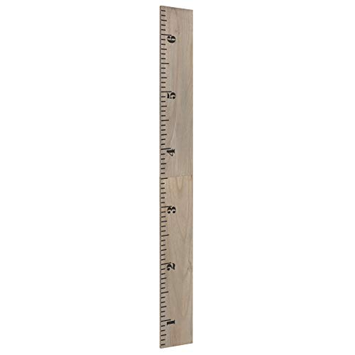 Kate and Laurel Growth Chart 6.5' Wood Wall Ruler, Gray by Kate and Laurel (Image #1)