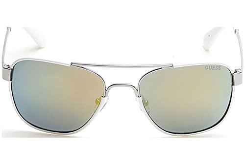 Guess GU 6853 06Q Shiny Dark Nickeltin / Green Mirror - Guess Sunglasses Prescription