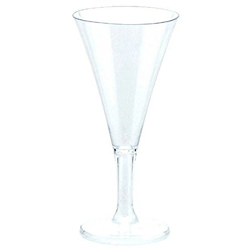2 Ounce Champagne (Party Perfect Reusable Mini Champagne Flute Tableware, Clear, Plastic , 2 Ounces, Pack of 20)
