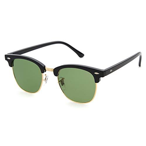 espejo mujer medio Lente gafas G15 sol de Marco para aviador marco con de Gafas ADEWU Negro 4UY1q
