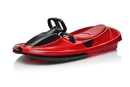 (Gizmo Riders Plastkon Stratos 41104201 Children's Steering Sledge/Racing Red/One Size)