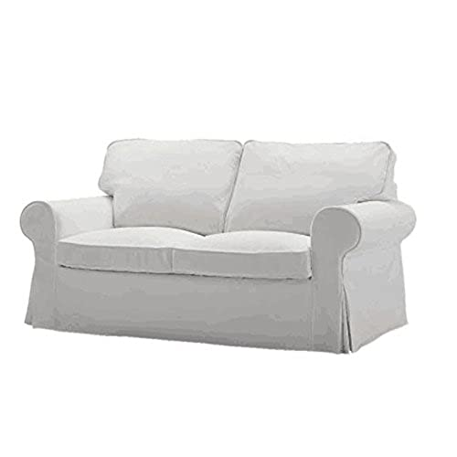 The Cotton Ektorp Loveseat Cover Replacement Is Custom Made For Ikea Ektorp  Loveseat Sofa Cover, A Ektorp Slipcover Replacement. (White)