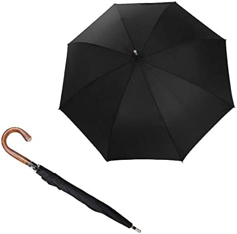 Security SELFDEFENSE Umbrella City-Safe Indestructible Umbrella round German wood handle defense