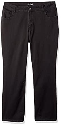 Riders by Lee Indigo Women's Plus Size Stretch Fit No Gap Boot Cut Jean, Soft Black, 18W
