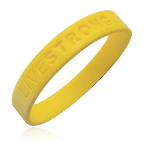 Official Live Strong Lance Armstrong Yellow Cancer LIVESTRONG Rubber Wristband Bracelet