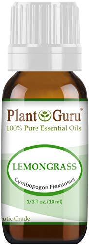 Lemongrass Essential Oil 10 ml 100% Pure Undiluted Therapeutic Grade for Aromatherapy Diffuser, Natural Healthy Skin, Body and Hair Growth