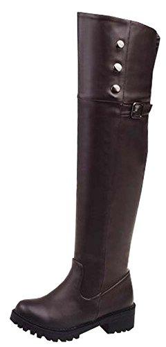 Hellbraun Yards Damenschuhe PU Stiefel 41 große Stiefel 34 Winter und Overknee Herbst 2016 nwOqR7Czq