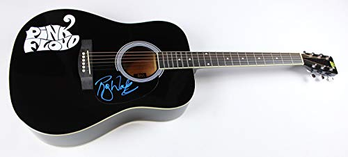 Pink Floyd Wish You Were Here Roger Waters Signed Autographed Full Size Black Acoustic Guitar Loa