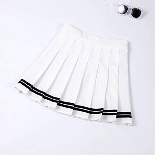 HEHEAB Falda,Cintura Alta Falda Blanca Plisada Kawaii Harajuku ...