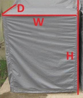 BEST Custom Protective Cover for Washer/Dryer. Made in USA. Water-Resistant & Extra Heavy-Duty Fabric. Ideal for Indoor/Outdoor Use. 3 Year Warranty. Includes ONE (1) Cover. Choose Your Own Size! by Equip, Inc. (Image #4)