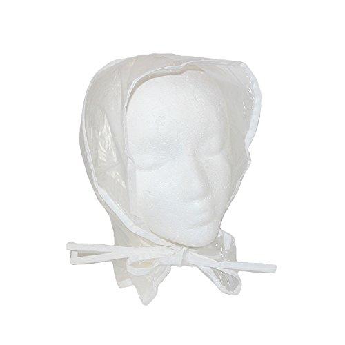 RainStopper Women's Clear Waterproof Rain Bonnet Hat, Clear