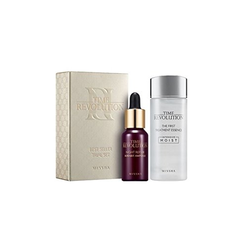 Price comparison product image Missha Time Revolution Best Seller Miniature Set - Miniature The First Treatment Essence 30ml + Miniature Borabit Ampoule 10ml