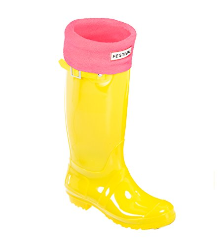 Rain Wellies Sizes Winter Wellington Tall 9 Yellow Original 3 Pink UK Boots Ladies Warm gqxIZTXnw