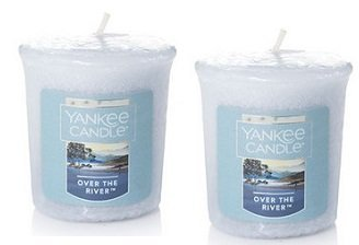 Yankee Candle 2 Pack Over the River Votive Candles. 1.75 Oz.
