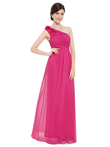 Ever-Pretty Womens Empire Waist Black Tie Formal Evening Gown 16 US Hot Pink